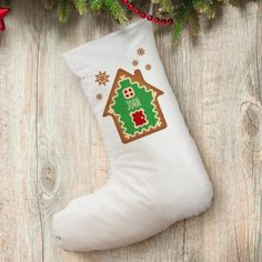 Personalised Gingerbread House Cotton Stocking