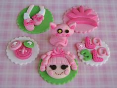 Lalaloopsy Cupcake Toppers by Lynlee's Petite Cakes, via Flickr