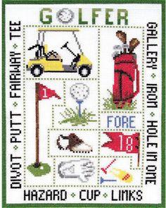Golfer Sampler - Cross Stitch Kit
