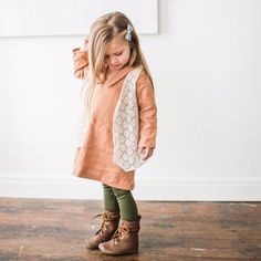 The Daydream Vest is a loose-fit layer perfect for completing any outfit. Wear with any of our Holiday 2016 dresses, or jeans and a long-sleeved tee!Content - Cotton/NylonCare - machine wash gentle, lay flat or hang dry. Stylish Kids Fashion, Vintage Kids Fashion, Little Kid Fashion, Toddler Fashion, Girl Fashion, Style Fashion, Fashion Kids, Fashion Fall, Cute Outfits For Kids