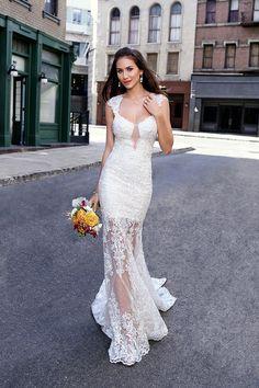 Wedding gown by Kitty Chen. #weddingdress #bridalguide #kittychen