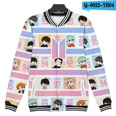 CUTE BTS 3D CARTOON JACKET (2 DESIGN)