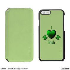 Green I Heart Irish Incipio Watson™ iPhone 6 Wallet Case