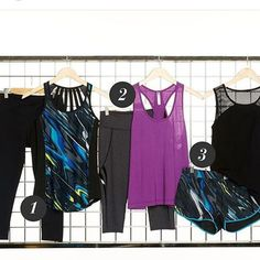 1 2 oder 3.. Welches dieser Outfits ist euer Favorit? #fitnessfashion #fitnessbrand #workout