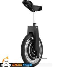 Le monocycle électrique Focus Designs SBU v3, avec sa selle et son moteur intégré à la roue /// Focus Designs SBU v3, called Self-Balancing Unicycle. Excellent vehicle for fun !