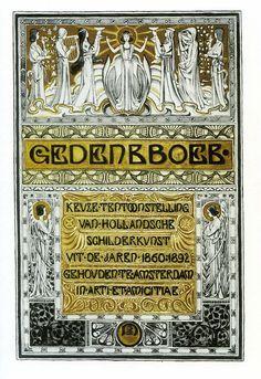 cover of a Dutch Memorial book in Art Nouveau style...