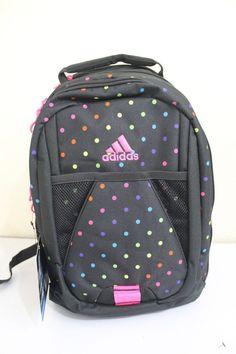 4f259a4e2998 Adidas Dillon print backpack women girl polka dot black padded straps   adidas  Backpack Polka