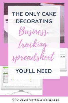 Need to get your cake decorating business on track? Do you know how much profit you are making? This fully automated Cake Decorating Business Tracking Spreadsheet is what you need to get your cake pricing better. Creative Cake Decorating, Cake Decorating Techniques, Cake Decorating Tutorials, Creative Cakes, Decorating Ideas, Home Bakery Business, Baking Business, Cake Business, Bakery Business Cards