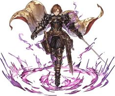 View an image titled 'Black Knight, Battle Art' in our Granblue Fantasy art gallery featuring official character designs, concept art, and promo pictures. Game Character Design, Fantasy Character Design, Character Concept, Character Inspiration, Character Art, Concept Art, Fantasy Heroes, Fantasy Girl, Fantasy Armor