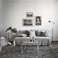 A grey and white living room - Is To Me
