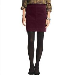 Ann Taylor Loft Corduroy Shift Skirt. Size 12.
