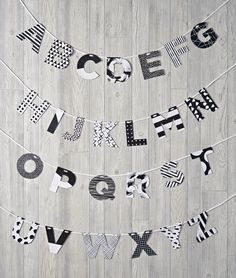 What's black and white (and not red all over)? Our exclusive ABC's from Ampersand Design Studio. Spell your child's name or favorite saying on a wall and watch them read it over and over again.