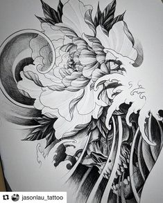 27 Super Ideas For Tattoo Flower Sleeve Sketches Drawings Japanese Pheonix Tattoo, Japanese Tattoo Art, Japanese Tattoo Designs, Japanese Sleeve Tattoos, Tattoos Anime, Tattoos Skull, Irezumi Tattoos, Body Art Tattoos, Angel Tattoo Designs