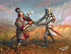 Wallpaper image: Battlefield legend, Fantasy Art, 2D Digital Art, History historic medieval desktop picture Knight Tournament Matte painting...