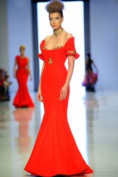 Fouad Sarkis Spring and Summer 2014 Haute Couture Collection...Gorgeous, love the details. Change the neckline & color to fit your wedding theme. Get that designer look without the designer $$$, have it custom-made.