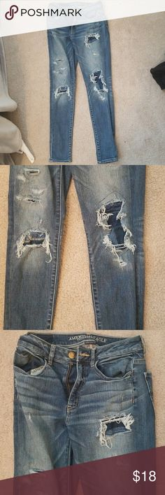 High rise jeans Worn a few times but still in a good condition! I got a lot of compliments on these jeans. American Eagle Outfitters Jeans Skinny