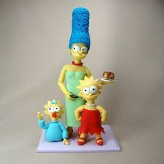 Simpsons Cake, Barbie, Princess Peach, Disney Princess, Cute Polymer Clay, Homer Simpson, Tinkerbell, Ems, Biscuits