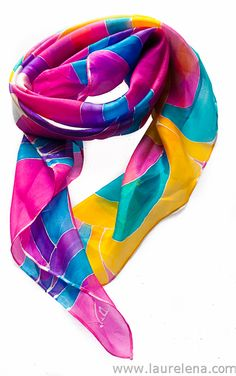 scarf, scarves, silk, laurelena, mexican, accesories, accesorios, hand painted http://www.laurelena.com