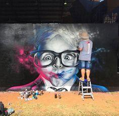 New Street Art by Walter Menezes Curitiba, Brazil #art #graffiti #mural #streetart
