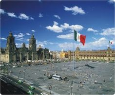If you do make it to Mexico City, be sure and go to the Zocalo.  You can see the National Cathedral and well as the government buildings and the ancient ruins of Aztec pyramids that were built here before Cortes demolished them.  You can also take note of leaning buildings and one side of the National Cathedral that is sinking.  The ancient Aztec capital (Tenochtitlan) was built on top of Lake Texcoco long ago.