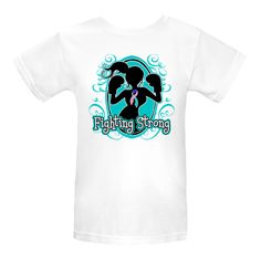 Thyroid Cancer Fighting Strong Women's Organic T-Shirts  featuring our orignal (copyrighted) female silhouette wearing boxing gloves and an awareness ribbon ready to take on the fight against cancer by Store.Gifts4Awareness.Com $17.99 www.store.gifts4awareness.com