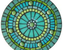 Mosaic Mandala - Teal, Lime, Green, Aqua Blue
