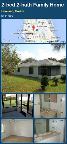 2-bed 2-bath Family Home in Lakeland, Florida ►$114,000 #PropertyForSale #RealEstate #Florida http://florida-magic.com/properties/84930-family-home-for-sale-in-lakeland-florida-with-2-bedroom-2-bathroom
