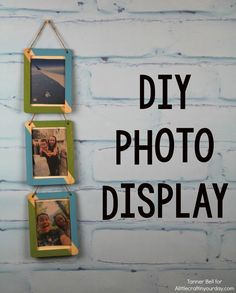 DIY Photo Display - A Little Craft In Your DayA Little Craft In Your Day #decoartprojects #teencraft #chalkyfinish
