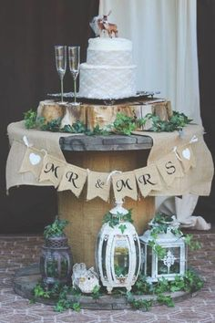 Country Wedding Cakes 100 rustic wedding ideas---rustic wedding cakes on the wood barrel, - Wedding Cake Prices, Country Wedding Cakes, Wedding Cake Rustic, Farm Wedding, Wedding Ideas, Elegant Wedding, Outdoor Wedding Decorations, Wedding Table Centerpieces, Centerpiece Ideas