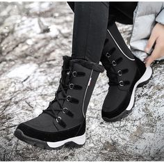Buy now and get Discount Click the pict for details. Winter Shoes For Women, Snow Boots Women, Winter Snow Boots, Mid Calf Boots, Ankle Boots, Winter Wedges, Stripper Heels, Hiking Sneakers, Winter Tops