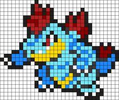 Feraligatr Pokemon Bead Pattern Perler Bead Pattern / Bead Sprite
