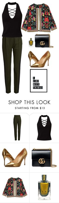 """Style For 1.5.17"" by miramar74 ❤ liked on Polyvore featuring Haider Ackermann, Miss Selfridge, Sergio Rossi, Gucci and nailedit"