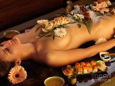 Nyotaimori Body Sushi Photograph  - Nyotaimori Body Sushi Fine Art Print