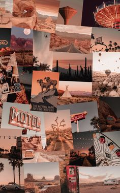 Travel Collage, Travel Aesthetic, Collage Kit, Retro Collage, Wanderlust Collage, Vintage Collage, Boho Collage, Desert Collage Wall Collage