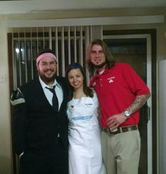 Flo, Mayhem, and Jake from State Farm.