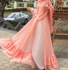 Oh my heart Indian Gowns Dresses, Modest Dresses, Stylish Dresses, Abaya Fashion, Modest Fashion, Fashion Outfits, Muslim Dress, Hijab Dress, Moslem Fashion