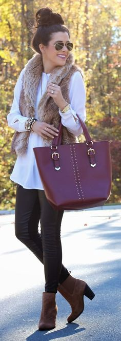 Fall Colors Outfit Idea by The Sweetest Thing