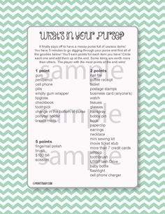 scavenger hunt game baby shower games printable baby shower games