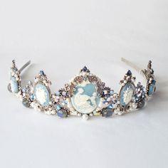 SALE  Drusilla Blue tiara  Gothic headpiece by AncaPeelma on Etsy, $450.00