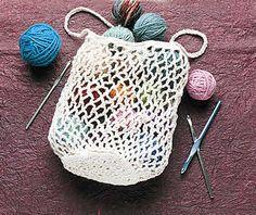 FREE PATTERN - Crochet Tuck Away Mesh Tote ♡ Teresa Restegui http://www.pinterest.com/teretegui/ ♡