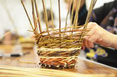 Willow weaving at the Farnham Maltings festival of crafts (Photo: Hannah Ridler)