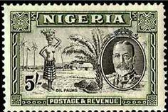 Oil Palms | 5s stamp | Nigeria