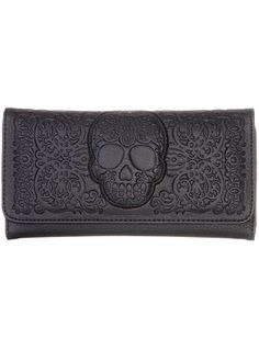 Frightful Filigree Skull Wallet <3 <3 <3