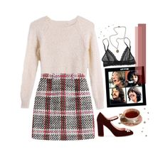"""coming on strong all the time"" by seafound ❤ liked on Polyvore featuring Carven, Kate Spade, Eberjey, French Kande, fakefan and concertsbycourt"