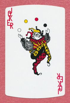 """State Chemical """"can shaped"""" playing card single swap JOKER - 1 card"""