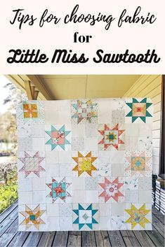 Tips for Choosing Fabrics for the Little Miss Sawtooth Quilt - Blog | Southern Charm Quilts Sampler Quilts, Star Quilts, Scrappy Quilts, Quilting Projects, Sewing Projects, Low Volume Quilt, Charm Quilt, Southern Charm, Little Miss