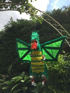 Dragon pinata at a Medieval knights birthday party! See more party planning ideas at CatchMyParty.com!