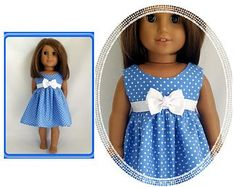 Doll clothes for American Girl & Wellie Wishers by SillyCowDollClothes American Girl Dress, American Girl Crafts, American Dolls, Doll Outfits, Doll Dresses, Girls Dresses, Girl Doll Clothes, Girl Dolls, Fashion Ideas