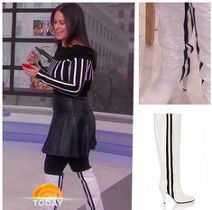 Jenna Bush Hager, Striped Boots, Hoda Kotb, Today Show, Tops, Women, Style, Fashion, Swag