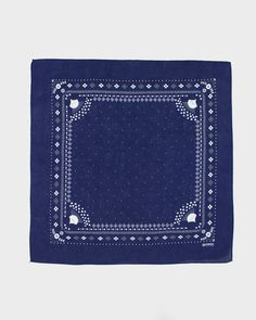 The classic American bandana first popularized by Hollywood cowboys was originally influenced by Indian textiles, patterns, and dyeing methods. Our printed patterns are designed to look like American-